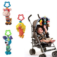 Cute  Soft Musical Handbells Baby Toys Newborn Kids Toys Animal Baby Mobile Stroller Toys Plush Playing Doll Brinquedos Bebes