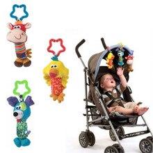 Sevimli yumuşak müzikal Handbells bebek oyuncakları yenidoğan çocuk oyuncakları hayvan bebek cep arabası oyuncak peluş oyun bebek Brinquedos Bebes