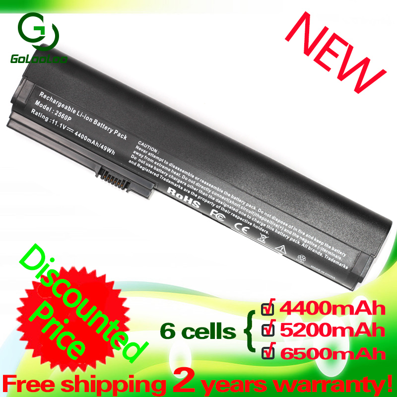 Golooloo 6 Cells  Laptop Battery  For HP EliteBook 2560p 2570p 632015-542 632016-542 632417-001 632419-001 632421-001