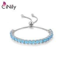 Cinily Prong Instellen Fire Opal Armbanden Bohemen Verzilverd Mode sieraden Armband Voor Vrouwen Sieraden Verjaardag Mode Gift