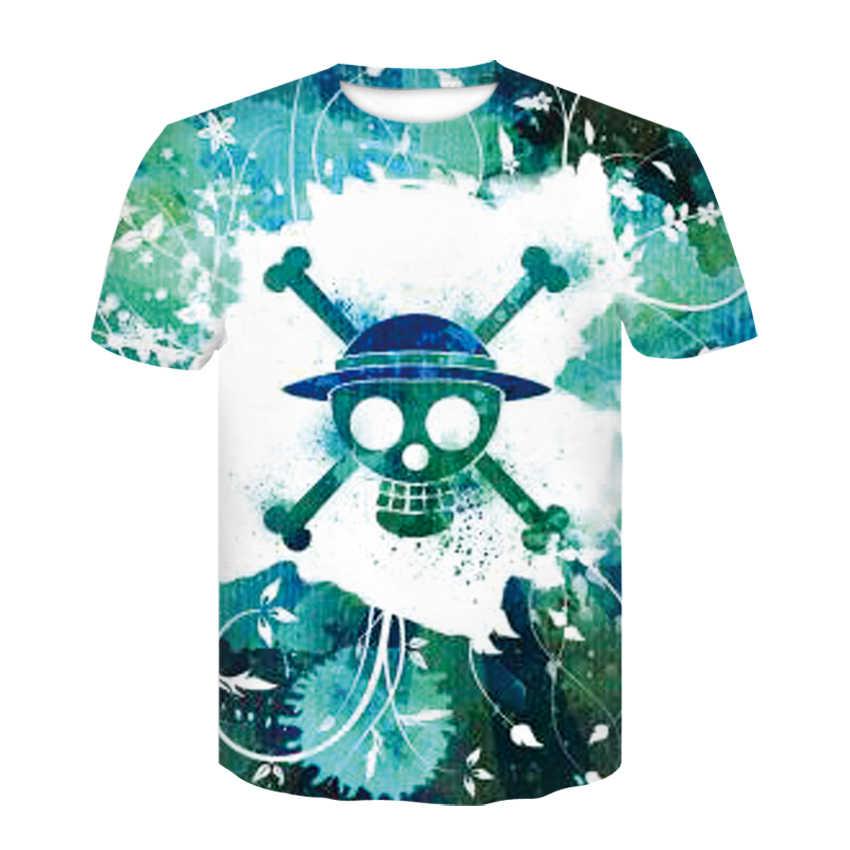 Lato męska koszulka dorywczo o kołnierz T-shirt z krótkim rękawem top styl hip-hopowy ubrania moda odzież uliczna reaper mózgu 3D T-shirt