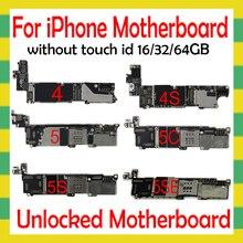 Met Os Systeem Voor Iphone 4S 5 5C 5S Se 6 6Plus 6S 6Splus 7 7Plus 8 8Plus Moederbord Zonder Geen Touch Id Originele Unlock Plaat