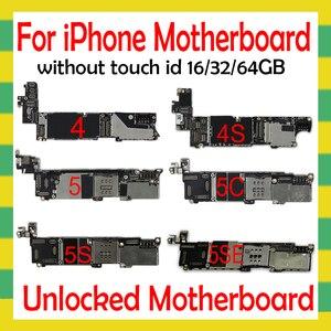 Image 1 - OS 시스템 포함 iphone 4S 5 5C 5S SE 6 6Plus 6S 6sPlus 7 7Plus 8 8Plus 마더 보드 없음 터치 ID 없음 원래 잠금 해제 플레이트