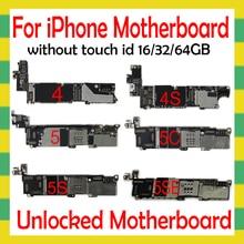 Osシステムiphone 4s 5 5C 5s、se 6 6プラス6s 6 s plus 7 7プラス8 8プラスマザーボードなしタッチidオリジナルのロック解除プレート