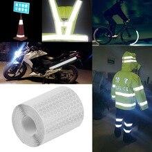 5 см x 3 м безопасность знак светоотражатель лента наклейки для велосипедов рамы мотоцикл сам клей пленка предупреждение лента светоотражающая пленка