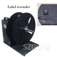 Two way automatic synchronous rewinding machine Industrial Barcode Label Rewinder Width 210mm Printer rewinder