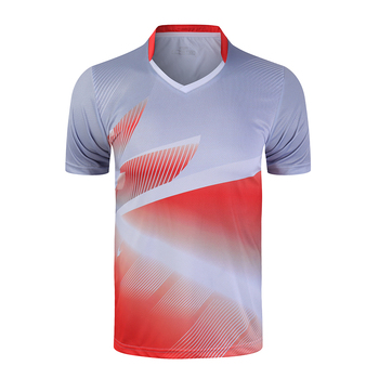 Nowe sportowe koszulki do badmintona koszulki do biegania mężczyźni kobiety siłownia koszulki koszulki do tenisa stołowego szybkoschnąca koszulka sportowa tanie i dobre opinie NAiMAi POLIESTER SHORT Szybkoschnące oddychająca Zapobiega marszczeniu Dobrze pasuje do rozmiaru wybierz swój normalny rozmiar