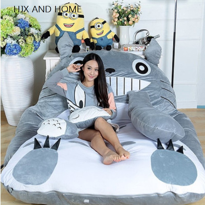 HJX Cartoon Totoro Mattress Lazy Sofa Bed Leisure And Comfort Tatami Mats Lovely Creative Small Bedroom Sofa Bed Chair