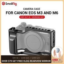 "SmallRig M6 מצלמה כלוב עבור Canon EOS M3 ו M6 טופס הולם אור משקל תא עם נאט""ו רכבת קר נעל הר 2130"