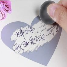 50pcs/lot Cute Heart Dialog design Scratch coating Sticker Kawaii Planner Scrapbooking office decor stationery