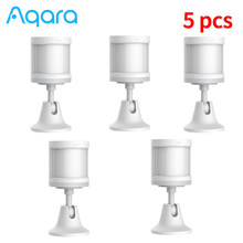 1-5 uds Aqara Sensor inteligente Sensor de cuerpo humano ZigBee movimiento seguridad inalámbrica inteligente Sensor de trabajo en casa para Homekit/Mi casa