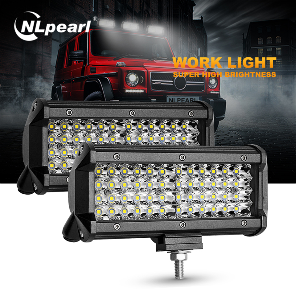 Waterproof 6000K 72W 12-30V Vehicle LED Work Light Spotlight 4x4 Tractor Light