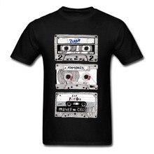 Maglietta da uomo K7 Punk Mix Tees maglietta Hip Hop cassetta 3D top maglietta nera 100% cotone alla moda Streetwear estate all'ingrosso