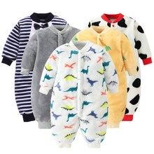 Bebê recém-nascido roupas de inverno infantil primavera jaqueta para meninas macacão para meninos macio flanela bebe macacão roupas de bebê 0-18 mês