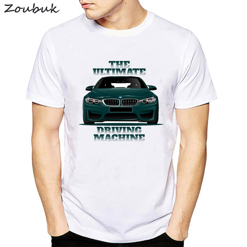 Funny Car T Shirts Bmw E46 E90 E39 E60 E30 Men Tshirt Classic Man Cool Supercar T-Shirt Male Summer Tops White Plus Size