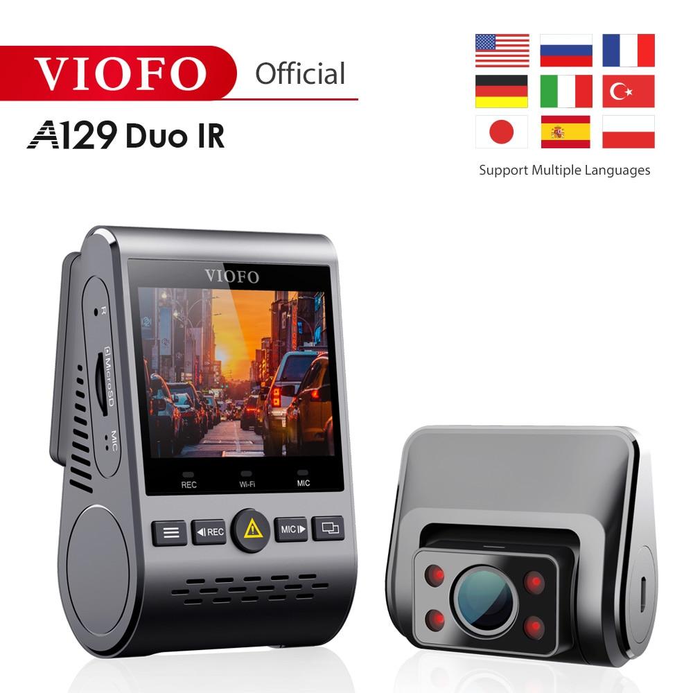 2019 NOVA A129 Duo IR Frente E Interior Dual Tamponado 5GHz Wi-Fi Full HD 1080P Traço Cam Estacionamento modo Para Uber Lyft Táxi