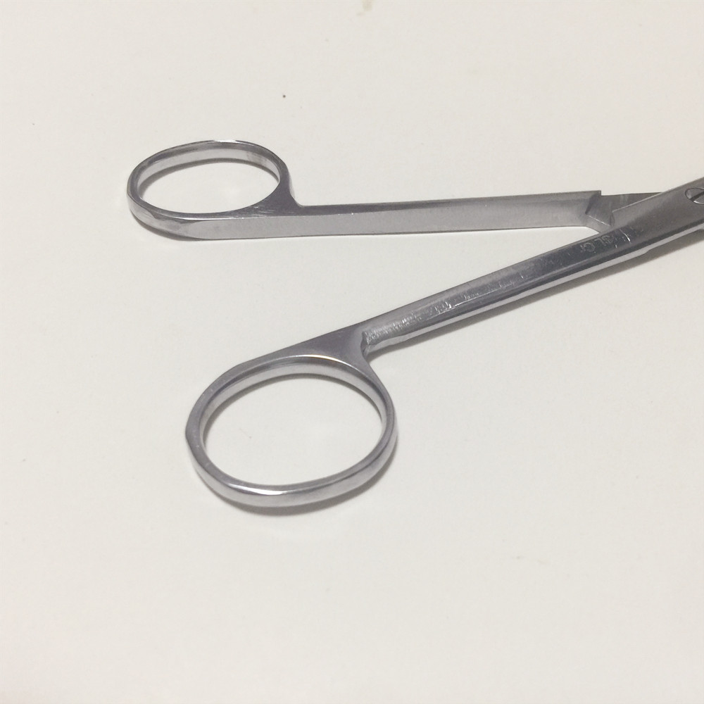 Купить с кэшбэком Stainless Steel Surgical Scissors Laboratory Medical Household Tissue Scissors Straight Round For Practice Using 12.5/14/16/18cm