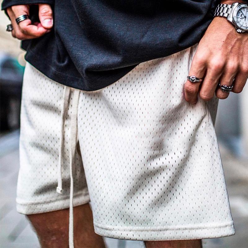 Summer Shorts Men Fashion Boardshorts Mesh Breathable Male Casual Shorts Comfortable Plus Size Fitness Mens Bodybuilding Shorts