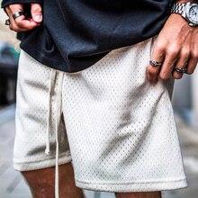 Летние мужские шорты, модные сетчатые дышащие мужские повседневные шорты для фитнеса размера плюс, мужские шорты для бодибилдинга