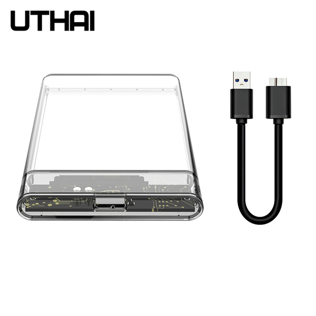UTHAI G06 USB3.0 HDD Enclosure 2.5 inch Serial Port SATA SSD Hard Drive Case Support 6TB transparent Mobile External HDD Case 1