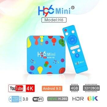 H96 MINI Android 9.0 4GB RAM 128GB ROM TV Box Allwinner H6 Quad Core 6K H.265 Wifi HD Google Player Set top box Media Player