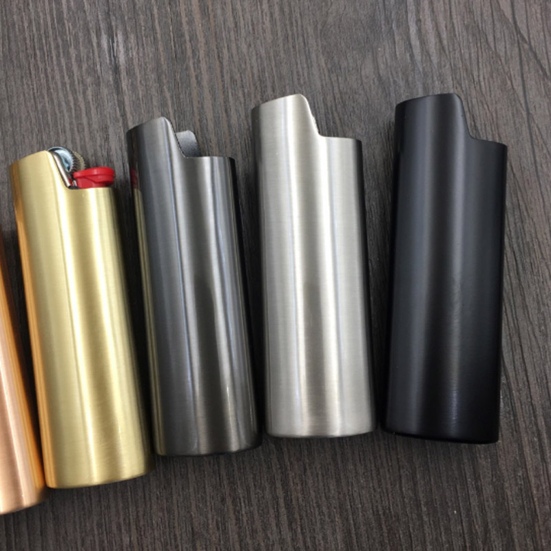 Metal Armor Gas Lighter Shell Ice Mirror J6 Lighter Case General Plastic Body Protection Lighter cover For Bic
