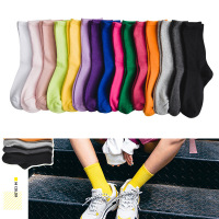 12pairs Autumn And Winter New Products Gaoluokou Pile Socks Japanese Wild Tide Socks women's Socks G0829