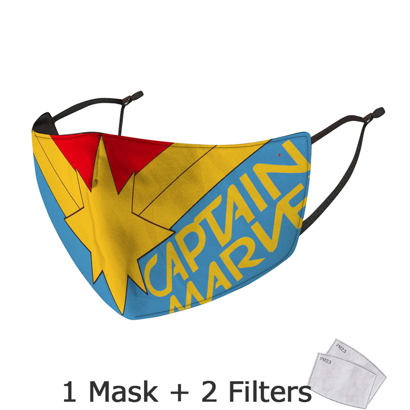 Disney Marvel Superhero Spiderman Mask With Filter Adult Anti Dust PM2.5 Windproof Reusable Mouth Mask Washable mascarillas 3