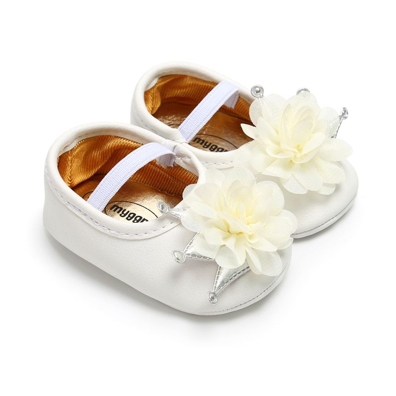 Flower Crown Baby Girl Shoes Autumn Baby Shoes First Walkers Newborn Soft Bottom Infant Princess