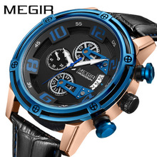 MEGIR Watches Men Luxury Brand Quartz Watch Fashion Chronograph Watch Reloj Hombre Sport Waterproof Shockproof  Clock pagani design luxury brand chronograph business watches men waterproof 30m calendar quartz watch steel clock men reloj hombre