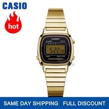 Casio watc ゴールド女性腕時計トップブランドの高級防水クォーツ時計女性LEDデジタルスポーツレディース腕時計 часы женские relogio feminino reloj mujer montre homme bayan kol saati zegarek damski LA680W