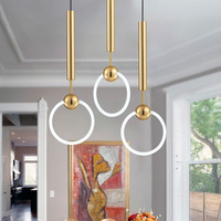 Modern Simple Lee Broom Ring Led Pendant Lights Gold Metal Pendant Light Suspension Lamp Hanging Light Fixtures Indoor Lighting