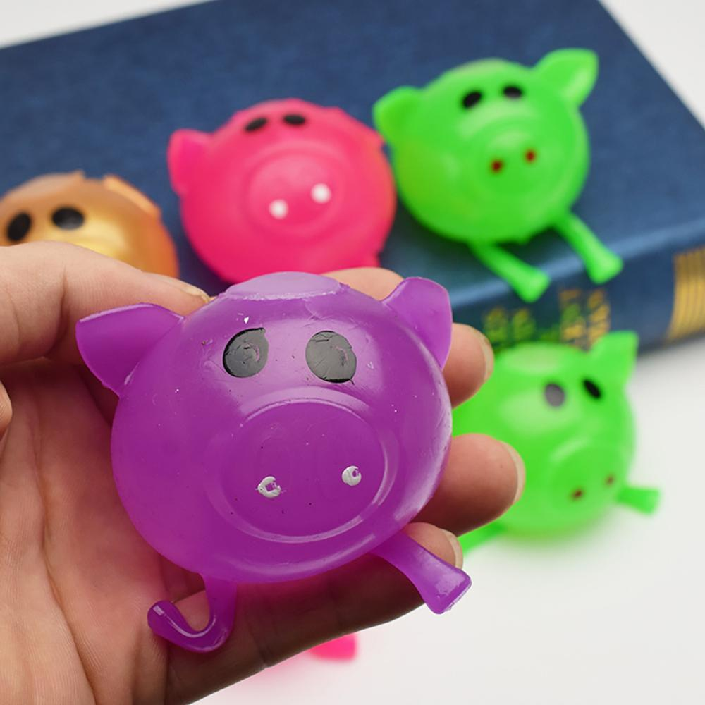 Solid Color Pig Anti Stress Splat Water Ball Jello Decompression Squeeze Toy Venting Sticky funny gift toys in Squeeze Toys from Toys Hobbies
