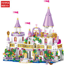 731Pcs City Romantic Princess Castle Model Bricks DIY Building Blocks Sets Friends Brinquedos Kit Educational Toys for Children
