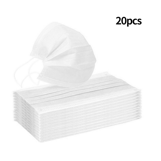 10/20/50/100pcs Disposable mouth mask diapers Earloop filter Non woven mouth masks 48 hours shipping 4