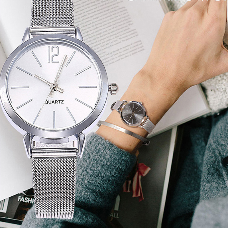 Leecnuo Fashion Women Watches Ladies Minimalist Bracelet Watch Elegant Quartz Casual WristWatch Female Milanese Strap Watch