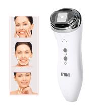 Mini hifu lifting twarzy masażer do pielęgnacji twarzy ultradźwiękowe bipolarne o częstotliwości radiowej lifting skóry przeciwzmarszczkowe urządzenie napinające tanie tanio FLOWTIME ABSplastic Electric 70*55mm China ultrasonic mini hifu machine Maszyna wykonana Odmładzanie skóry Napinania skóry