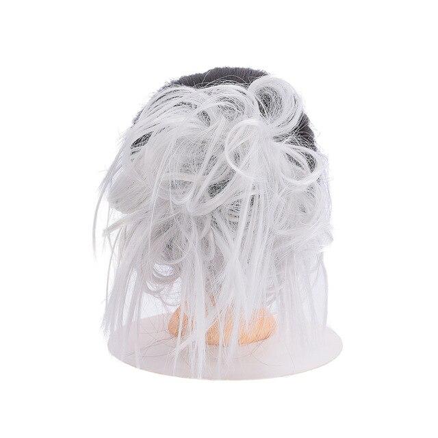 Lupu синтетические мягкие волосы кудрявый пучок женщин кудрявый Грязный серый коричневый цвет волос лента парик шиньон - Цвет: GREY