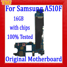 With Android System Logic board for Samsung Galaxy A510F A520F A500F A500FU A530F Motherboard 100% Original with full chips(China)