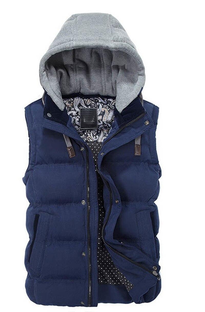 Qualité hiver hommes pulls à capuche sans manches mode décontracté sweat à capuche hommes Hip Hop imprimé sweat à capuche rayé hommes chaud Sportswear