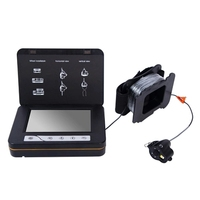 ABKT 15M Fish Finder Underwater Ice Fishing Camera 5 Inch LCD Monitor Camera with Night Vision Temperature Direction Depth Displ