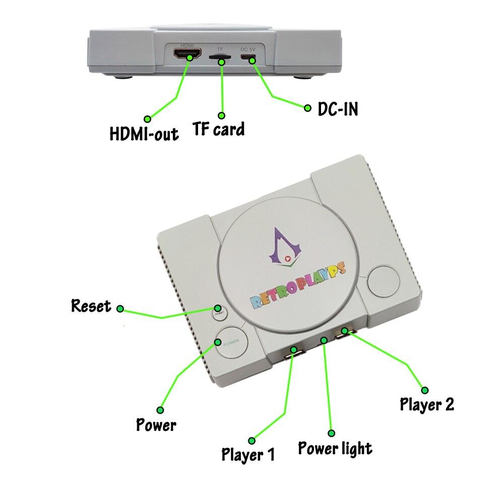PSP חדש ארקייד משחק וידאו Console עבור PSP עבור SEGA HD פטל פאי 50 סימולטורים שחקן bulit-ב 10,000 משחקים Wired Gamepad מתנה Boy (5)