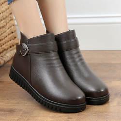 Большой размер, обувь с хлопчатобумажными стельками женская зимняя обувь с ворсом и толстой теплой подкладкой, 2019 г. Новый стиль, мягкая