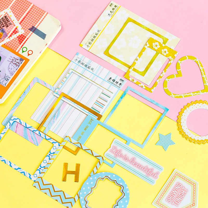 15 шт./пакет канцелярские наклейки Kawaii фоторамка дневник планировщик декоративные мобильные наклейки Скрапбукинг DIY ремесло наклейки