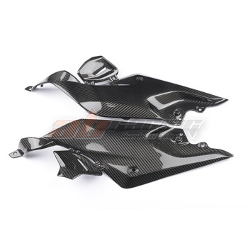 Gas Tank Side Knee Cover Panel Fairing Cowl For BMW R1200R  2015-2018 Full Carbon Fiber, 100% Twill