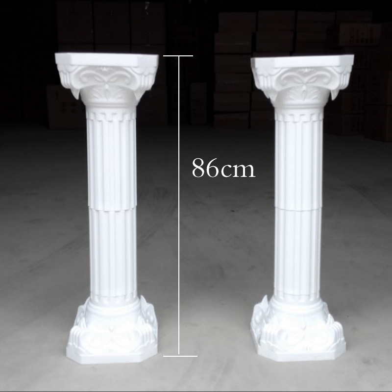 2pcs lot Fashion Wedding Props Decorative Artificial Hollow Roman Columns White Color Plastic Pillars Road Cited Party Event in Party DIY Decorations from Home Garden