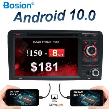 2 din android 10.0 car radio for audi a3 8p fit to 2003-2011 autoradio audio gps navigation amp steering wheel control camera image