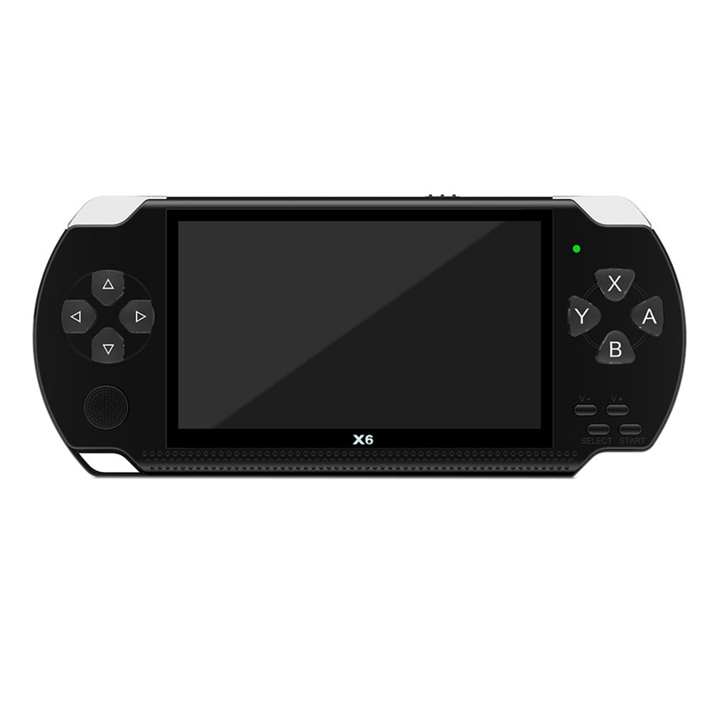 X6 4.3 Inch Handheld Game Console Player 10000 Games 32Bit 8GB Support for PSP Game/Video/E-Book