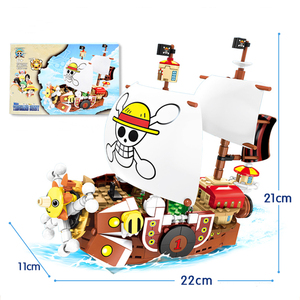 Image 5 - 432pcs One Pieces Building Blocks Thousand Sunny Pirate Ship Luffy Blocks Model Techinc Idea Figures Toys for Children