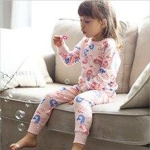 Хлопковое мягкое термобелье, Детские подштанники, зимние пижамы для девочек, однотонная детская одежда, одежда для сна